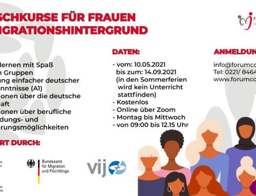 Deutschkurse für Frauen mit Migrationshintergrund